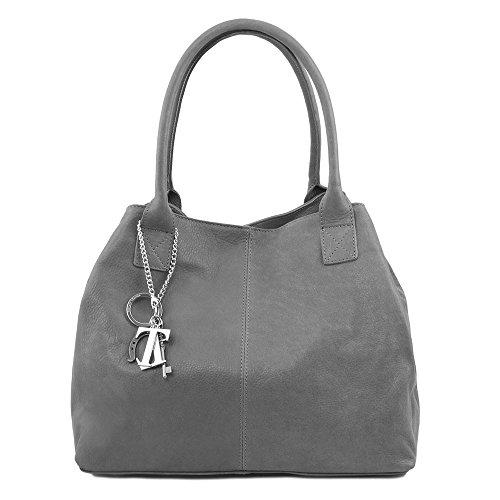 Tuscany Leather - TL KeyLuck - Sac à épaule en cuir - Noir