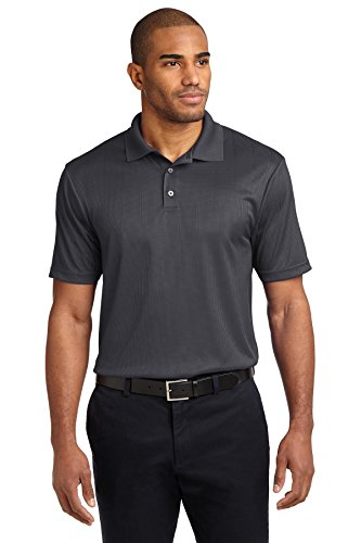 Authority Port Knit Shirt (Port Authority Men's Port Authority Performance Fine Jacquard XL Grey Smoke)