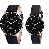 JAINX Analogue Black Dial Mens & Womens Couple Watch Jc4