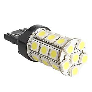 t20 5050 SMD 27-LED 1.44w 260mA bombilla de luz blanca para coche (12V DC)
