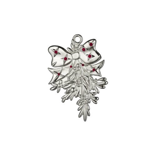 WATERFORD SILVERPLATE ORNAMENTS 2013 mistletoe ornament by ()
