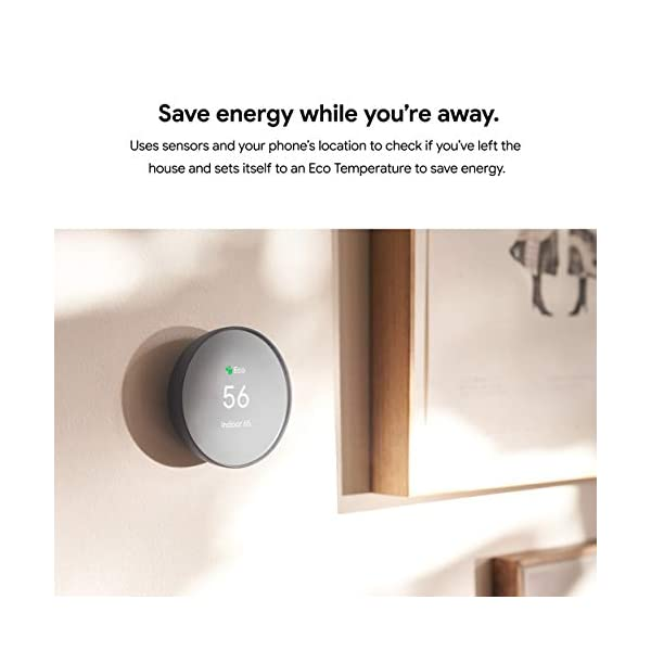Google G4CVZ Nest Thermostat - Smart Thermostat for Home - Programmable Wifi Thermostat - Charcoal 4