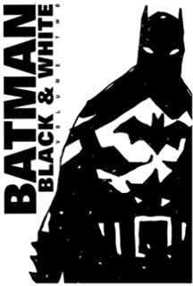 batman black white Batman  measures about 7 3/4-inches tall.