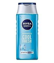 NIVEA MEN Cool Fresh Shampoo 250 ml, champú diario para hombres, cuidado del cabello fresco y refrescante, champú mentol adecuado para cabello normal a graso