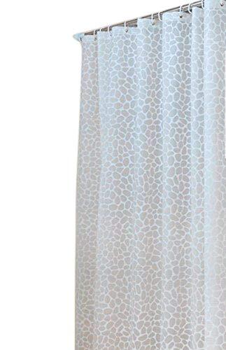 Amazon Sfoothome PEVA Bath Curtain Waterproof Mildew Free