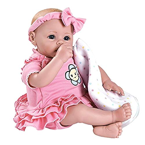 """Adora BabyTime Pink 16"""" Weighted Girl Play Doll Gift Set Ens"""
