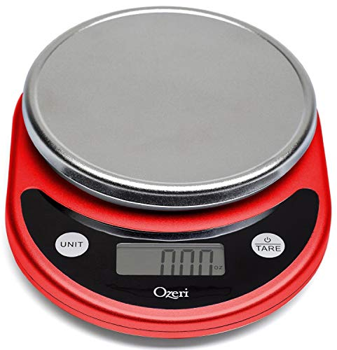 Ozeri ZK14-R Pronto Digital Multifunction Kitchen and Food Scale, Red ()