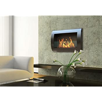 Anywhere Fireplace Chelsea Model In Black Wall Mount Bio Ethanol Fireplace Home