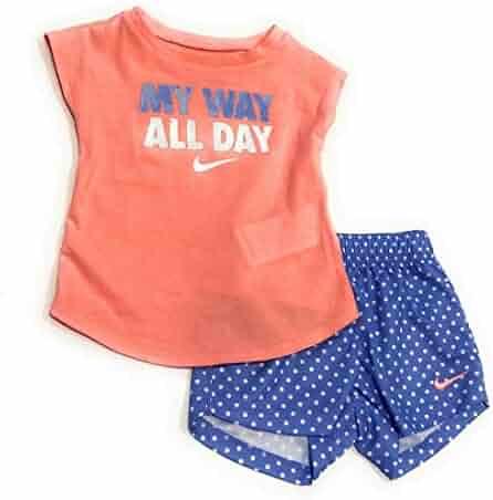 c1c4783151 Nike Toddler Girl My Way All Day Graphic Tee & Polka-Dot Mesh Shorts Set