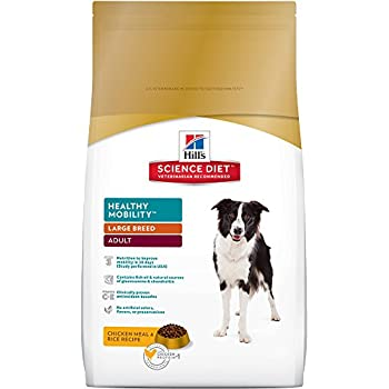 Hill's Science Diet Adult Large Breed Healthy Mobility Chicken Meal & Rice Recipe Dry Dog Food, 30 lb bag
