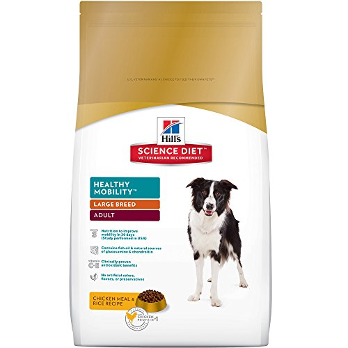 Hill's Science Diet Adult Healthy Mobility Dog Food, Large Breed Chicken Meal & Rice Recipe Dry Dog Food for joint health, 30 lb Bag
