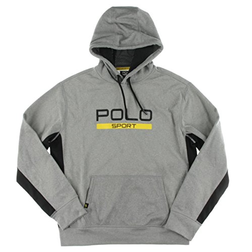 Polo Ralph Lauren Mens Graphic Fleece Hooded Sweatshirt Gray - Models Male Ralph Lauren
