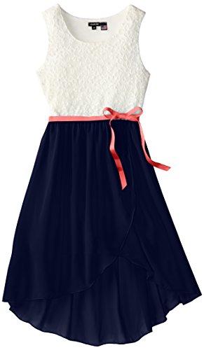 zunie big lace and chiffon dress with tulip skirt