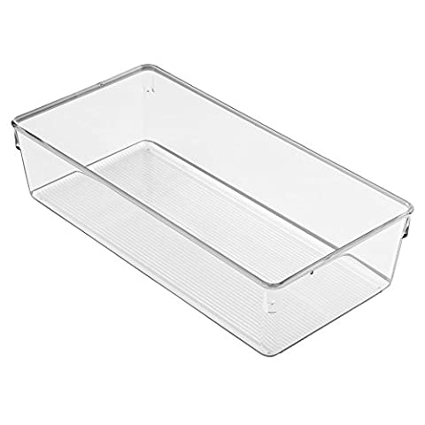 InterDesign Linus Dresser and Vanity Drawer Organizer, 12-inch by 6-inch by 3-inch, (Standard Pensile Altezza)