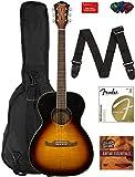 electric acoustic guitar - Fender FA-235E Concert Acoustic-Electric Guitar - Natural Bundle with Gig Bag, Strap, Strings, Picks, Fender Play Online Lessons, and Austin Bazaar Instructional DVD