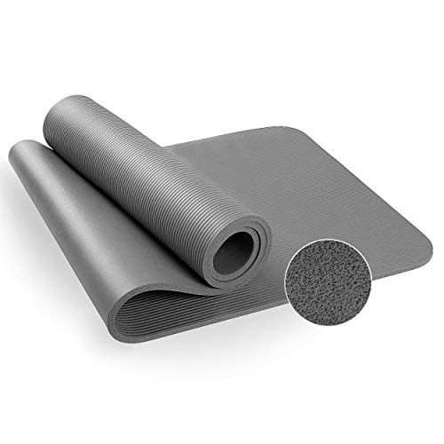 Lions Exercise Mat Non Slip Carry Straps 10mm Thick for Gymnastic Yoga Pilates Gym Fitness Workout – 180 x 60cm