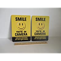 2 Smile Youre On Camera Video Surveillance Security Metal Yard Signs Stock # 722