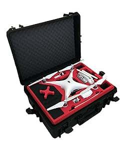 Maleta profesional / maleta de transporte adecuado para DJI Phantom 4 con mucho espacio con 6 baterías