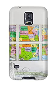 Hot Style PLumnWe4025pFfvO Protective Case Cover For Galaxys5(white Nursery With Colorful Wall Map Artwork)