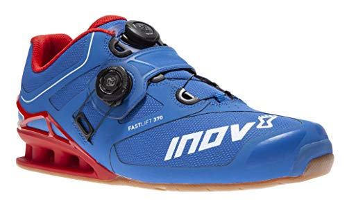 Inov-8 Lifting Mens Fastlift 370 BOA - Powerlifting Shoes for Heavy Weightlifting - Squat Shoe - 4 July Exclusive - Wide Toe Box - Blue/Red 10.5 M US