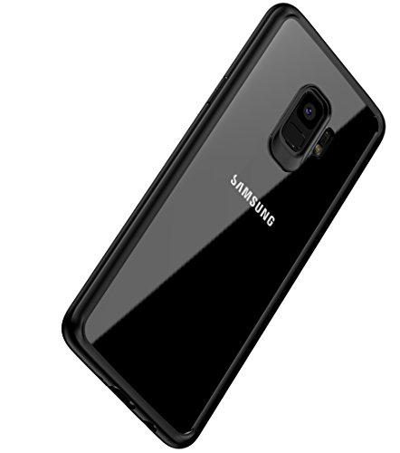 Galaxy S9 Case , Vinve Slim Anti-Scratch Shockproof Cover Clear Hard Back Panel + TPU Bumper Protective Case for Samsung Galaxy S9 (Black)