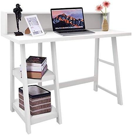 ChooChoo Home Office Desk Writing Computer Table Modern Design White Desk