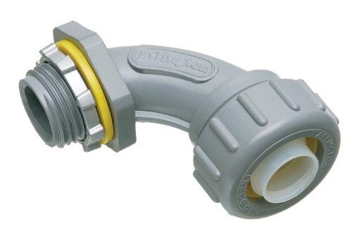 Arlington NMLT9050 90-Degree Liquid-Tight Connector 50-Pack Non-Metallic 12-Inch