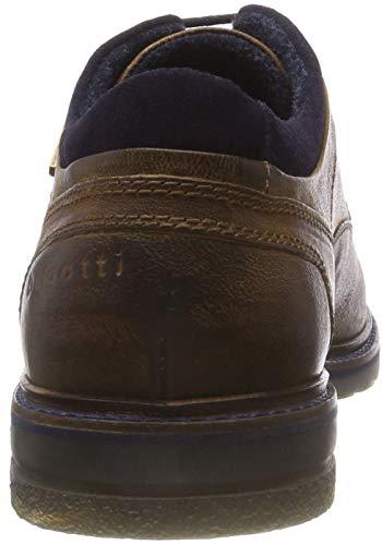 Dark Bugatti Derby Hombre Zapatos 3 11 Para 6341 Blue cognac Cordones Marrón 21618e De aqaPwr