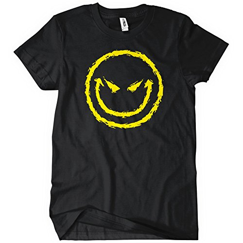 EVIL SMILEY FACE Womens T-Shirt Tee Grin Gothic Cotton New Black Funny Novelty