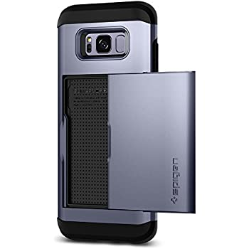 Spigen Slim Armor CS Galaxy S8 Plus Case with Slim Dual Layer Wallet Design and Card Slot Holder for Galaxy S8 Plus - Orchid Gray
