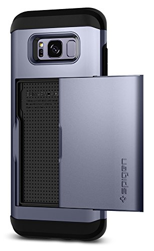 Spigen Slim Armor CS Galaxy S8 Case with Slim Dual Layer Wallet Design and Card Slot Holder for Galaxy S8 (2017) - Orchid Gray