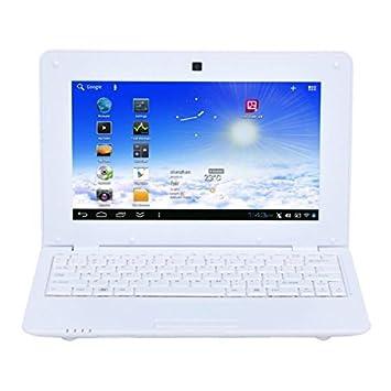 Yonis Y-pca3 - Ordenador portátil (Netbook, Android, Ión de litio, Plurilingüe, Color blanco, QWERTY): Amazon.es: Electrónica
