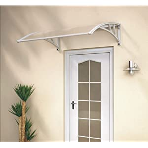 MVPOWER Door Canopy Awning Window Rain Shelter Cover for Front Door Porch Black 190x 98.5cm//74.80 x 38.78 inches
