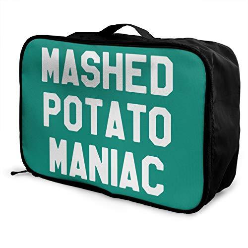 Mashed Potato Maniac Lightweight Large Capacity Portable Luggage Bag Fashion Travel Duffel Bag