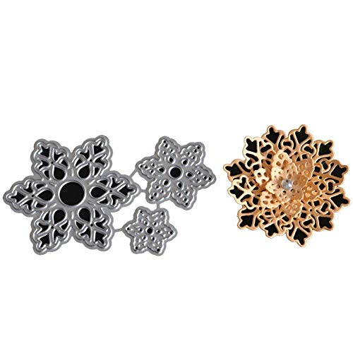Hot Sale! Hongxin Metal Cutting Dies Layered Sharpe Flower Dies Cut Decorate Scrapbooking Embossing Stencil DIY Album Card Craft Dies Creative Gift For Her by Hongxin (Image #4)