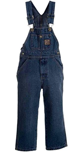 Berne Apparel BY12 Youth's Unlined Bib Overall Vintage Berne Wash