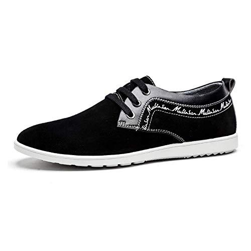 Hombres 8 Zapatos UK US Color para Tamaño 9 cómodos UK Color 5 para 8 con 7 Cuero Hombres Mocasines Negro HhGold tamaño Mens Gamuza Casuales de de Negro 5 Negro US Cordones 6RwAq1Ad