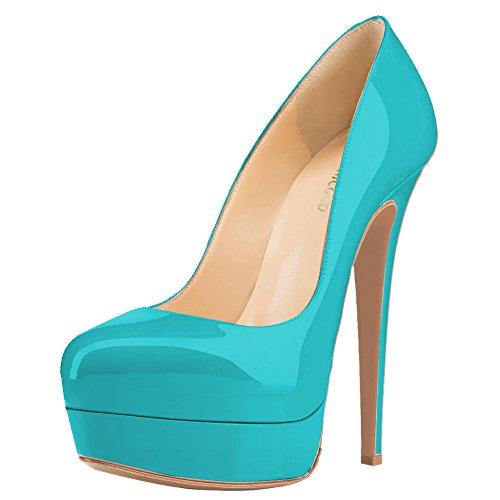 Compensées Lackleder Femme Monicoco Türkis Chaussures wX0xwpq5a