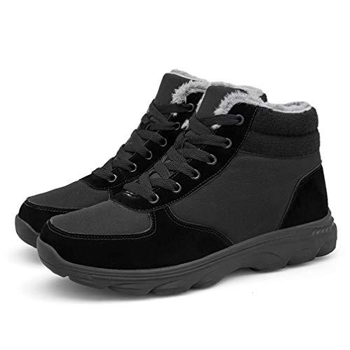 E Sportive Da Donna Piatto Scarpe Invernali Stivali Caviglia Neve Uomo Stivaletti Pelliccia Allineato Inverno Caloroso Ubfen Boots Nero 6qaRxg6