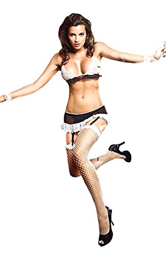 Private Maid Costumes (Adam's Temptation French Maid Request Exotic Bedroom Costume Set (One Size))