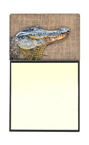 Treasures Alligator Desk (Caroline's Treasures Alligator Refillable Sticky Note Holder or Postit Note Dispenser, 3.25 by 5.5