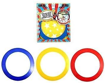 Pack de 3 De colores Circo Plástico Malabarista Malabares Anillos ...