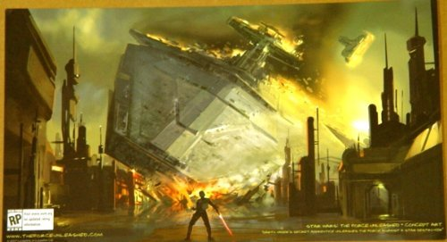 Star Wars The Force Unleashed Concept Artwork Promotional Card from San Diego Comic Con 7 x 12.5 Inches (Star Wars The Force Unleashed Concept Art)