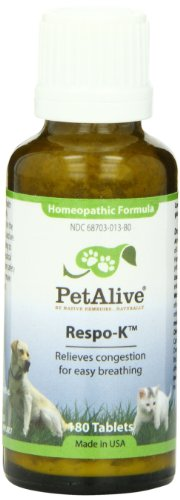 PetAlive Respo-K Tablets, 180 Count Bottle