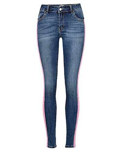 De Vaqueros De Mujer Como Pantalones Imagen Pantalones Alta La Lápiz Cintura Mezclilla Elásticos De Skinny Tejanos Pantalones Vaqueros 4wqRAd