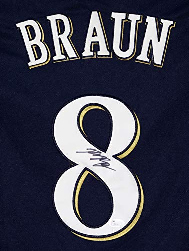 Ryan Braun Milwaukee Brewers Signed Autographed Blue #8 Jersey JSA COA