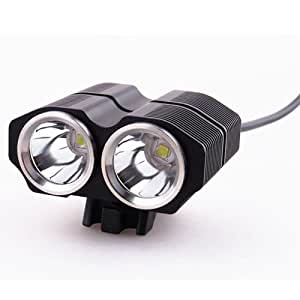 Aerospace New 2000Lm CREE XML-L2 LED Bicycle Light 4400mAh Rechargeable Battery for Bike Lamp