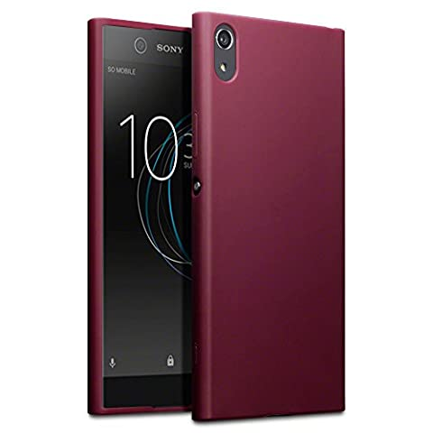 Xperia XA1 Ultra Cases, Terrapin Sony Xperia XA1 Ultra Cover - TPU Gel - Slim Design - Durable Shock Absorbing - Back Protector - Solid Red Matte (Cell Phones Cases Sony Xperia)