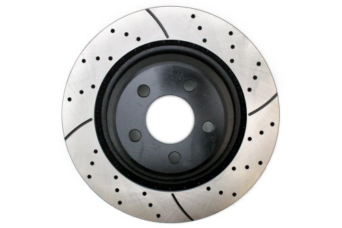 Prime Choice Auto Parts PR63032R Rear Passengers Side Performance Drilled And Slotted Brake Rotor