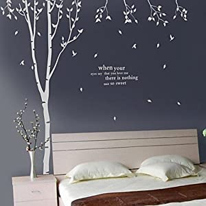 Tree Decoration Wall Stickers White Part 65